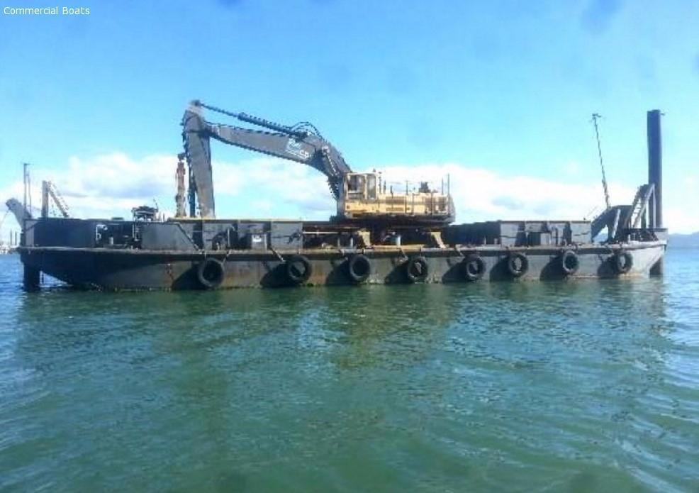 Commercial Boats - 28 Mtr Hopper Barge Volvo Excavator